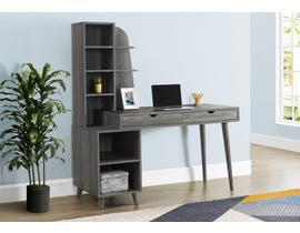 Monarch Computer Desk with Bookcase in Grey I7098