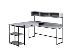 Monarch grey / black metal corner Computer Desk I7160