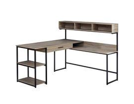 Monarch dark taupe / black metal corner Computer Desk I7161
