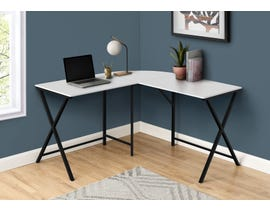 Monarch Computer Desk in White/Black I7195