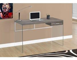 """Monarch Computer Desk 48""""L Dark Taupe Tempered Glass I7207"""