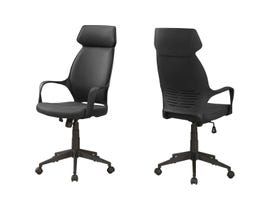 Monarch OFFICE CHAIR - BLACK MICROFIBER / HIGH BACK EXECUTIVE I7249