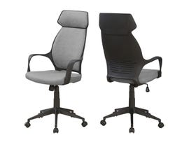 Monarch OFFICE CHAIR - GREY MICROFIBER / HIGH BACK EXECUTIVE I7250