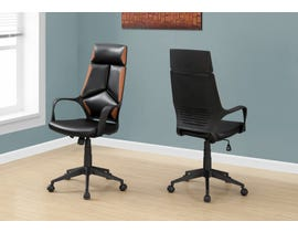 Monarch office chair in black and brown leather-look high back EXECUTIVE in I7271