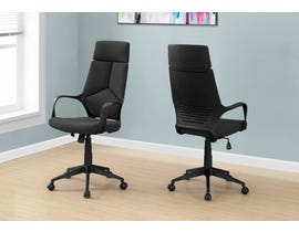Monarch office chair in black and brown leather-look high Back EXECUTIVE in I7272