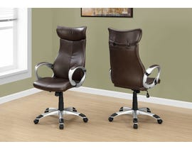 Monarch office chair in brown leather-look high Back EXECUTIVE I7289