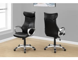 Monarch office chair in black leather-look high Back EXECUTIVE I7289