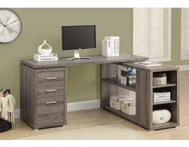 Monarch Computer Desk Dark Taupe Left Or Right Facing Corner I7319