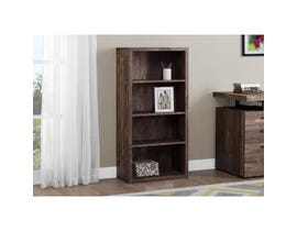 "Monarch BOOKCASE  48""H BROWN RECLAIMED WOOD LOOK/ ADJ. SHELVES I 7404"