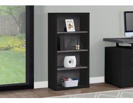 "Monarch Bookcase 48""H Black Grey With Adjustable Shelves I7407"