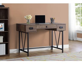 "Monarch Computer Desk 48""L Brown Reclaimed Wood Black Metal I7412"