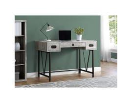 """Monarch Computer Desk 48""""L Grey Reclaimed Wood Black Metal I7413"""