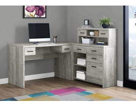 Monarch Computer Desk Grey Reclaimed Wood L/R Facing Corner I7428