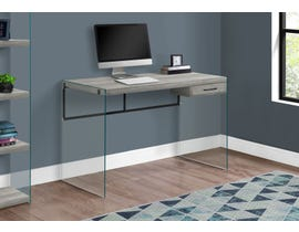 "Monarch Computer Desk 48""L Grey Reclaimed Wood Glass Panels I7445"