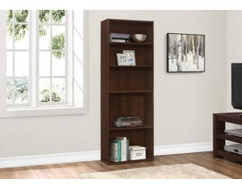"Monarch BOOKCASE  72""H CHERRY WITH 5 SHELVES I 7466"