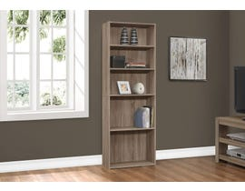 "Monarch BOOKCASE  72""H DARK TAUPE WITH 5 SHELVES I 7468"