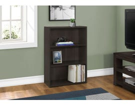 "Monarch BOOKCASE  36""H CAPPUCCINO WITH 3 SHELVES I 7476"
