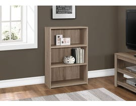 "Monarch BOOKCASE  36""H DARK TAUPE WITH 3 SHELVES I 7477"