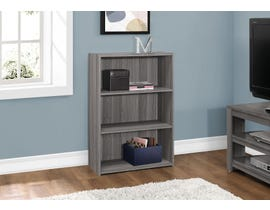 "Monarch BOOKCASE  36""H GREY WITH 3 SHELVES I 7478"