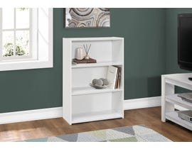 "Monarch BOOKCASE  36""H WHITE WITH 3 SHELVES I 7479"