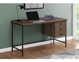 "Monarch Computer Desk 55""L Brown Reclaimed Wood Black Metal I7485"