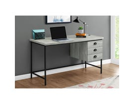 "Monarch Computer Desk 55""L Grey Reclaimed Wood Black Metal I7486"