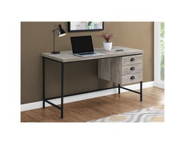 "Monarch Computer Desk 55""L Taupe Reclaimed Wood Black Metal I7487"