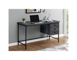 "Monarch Computer Desk 55""L Black Reclaimed Wood Black Metal I7488"