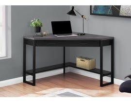 """Monarch Computer Desk 42""""L Black Grey Top Corner Black I7503"""