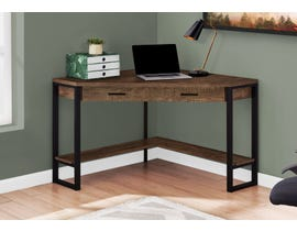 "Monarch Computer Desk 42""L Brown Reclaimed Wood Corner I7504"