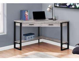 "Monarch Computer Desk 42""L Grey Reclaimed Wood Corner I7505"