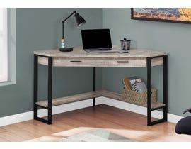 "Monarch Computer Desk 42""L Taupe Reclaimed Wood Corner I7506"