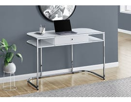 Monarch Computer Desk in Glossy White I7520