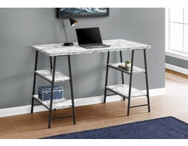 Monarch Computer Desk in White Marble-Look I7527