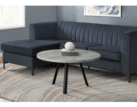 Monarch Round Coffee Table with Reclaimed Wood in Grey I7815