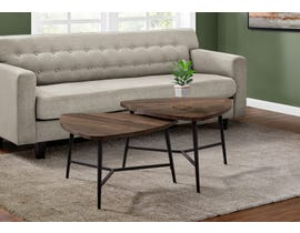 Monarch 2 Piece Table Set with Reclaimed Wood in Brown I7937P