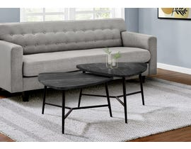 Monarch 2 Piece Table Set with Reclaimed Wood in Black I7940P