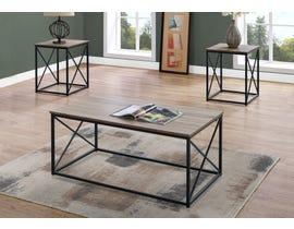 Monarch TABLE SET - 3PCS SET / DARK TAUPE / BLACK METAL I7950P