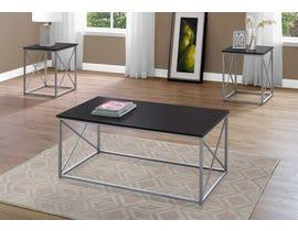 Monarch TABLE SET - 3PCS SET / CAPPUCCINO / SILVER METAL I7952P