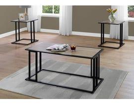 Monarch TABLE SET - 3PCS SET / DARK TAUPE / BLACK METAL I7955P