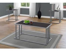 Monarch TABLE SET - 3PCS SET / CAPPUCCINO / SILVER METAL I7957P