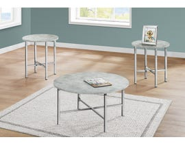Monarch 3 Piece Table Set in Grey Cement I7966P