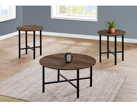 Monarch 3 Piece Table Set with Reclaimed Wood in Brown I7967P