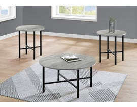 Monarch 3 Piece Table Set with Reclaimed Wood in Grey I7968P
