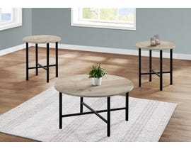 Monarch 3 Piece Table Set with Reclaimed Wood in Taupe I7969P