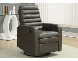 Monarch Swivel Glider Reclining Chair in Grey I8086GY