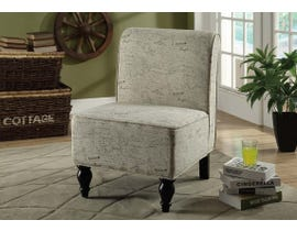Monarch Vintage French Traditional Fabric Accent Chair in Beige I8123