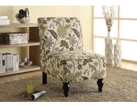 Monarch Fabric Accent Chair in Brown/Gold I8125