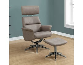 Monarch recliner in TAUPE SWIVEL with ADJUSTABLE HEADREST 2PCS SET I8134