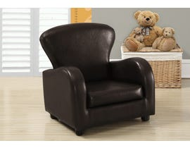 Monarch JUVENILE CHAIR - DARK BROWN LEATHER-LOOK I8140